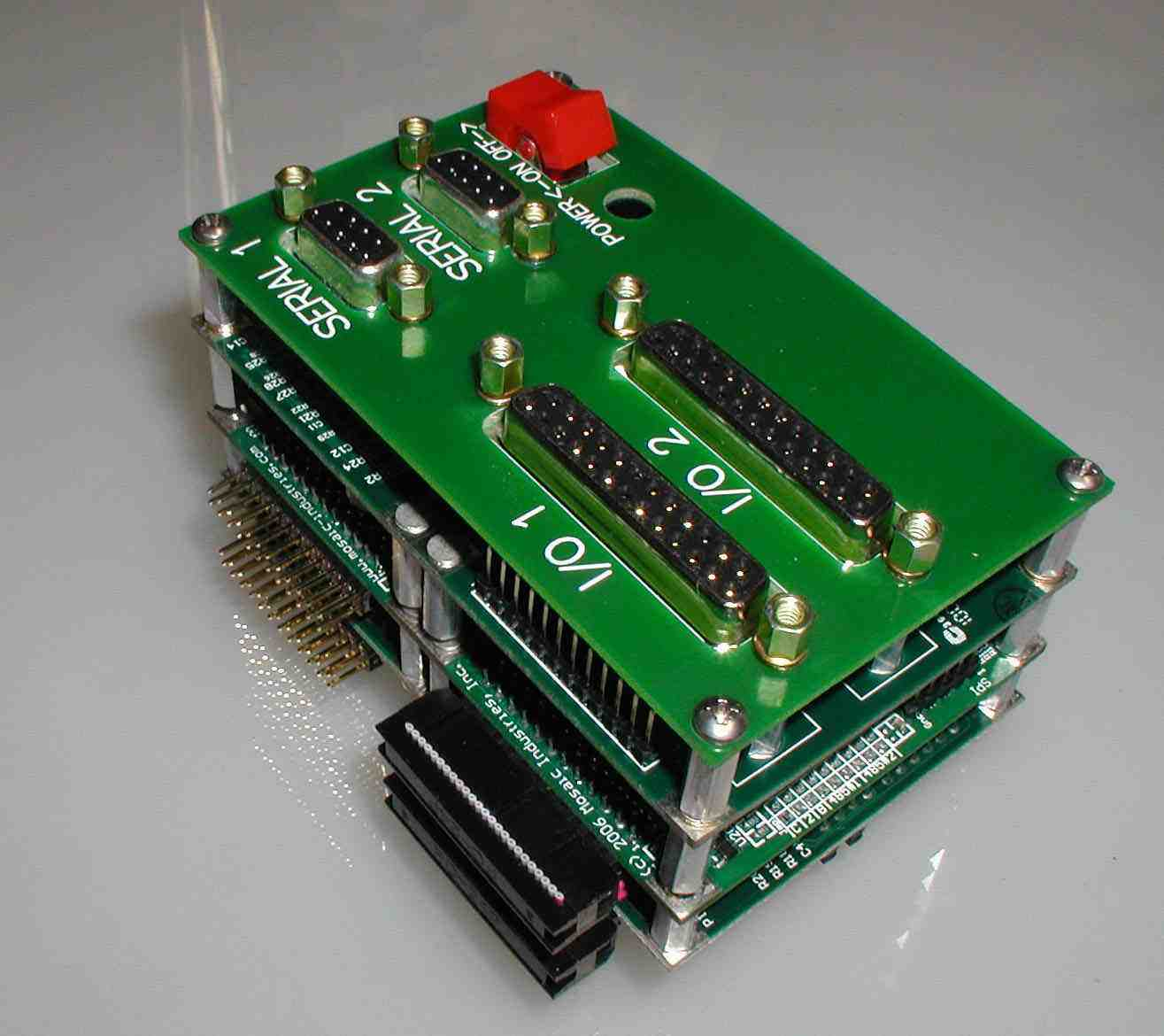 New product design with a switching power supply, I/O boards, and single board computer