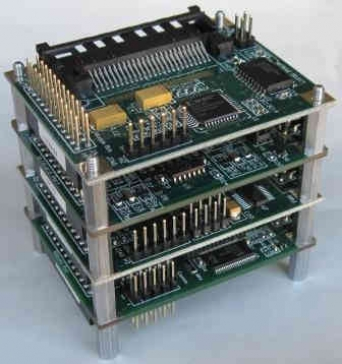 Stacking I/O Boards ease instrument design and development