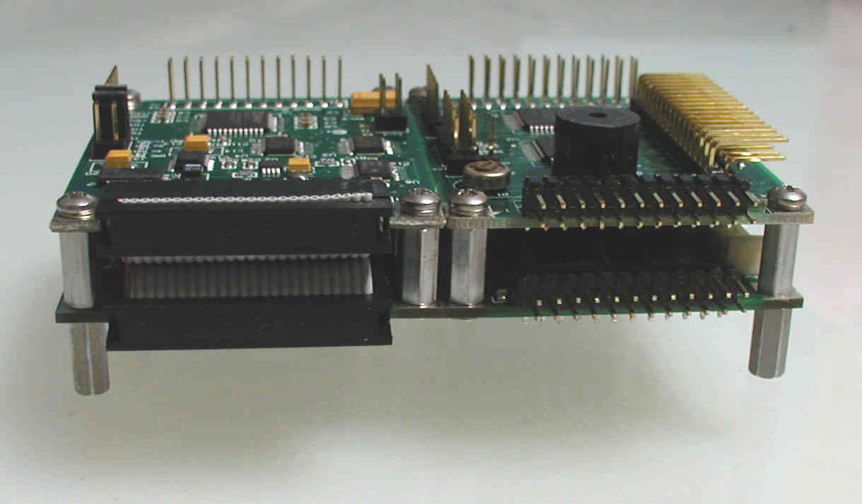 I/O Boards stack on the microcontroller for compact instrument design