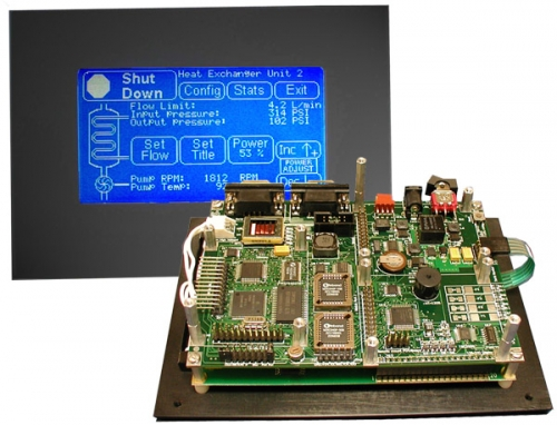 I O Rich Embedded Controller Built In Touchscreen Graphical User Interface Gui