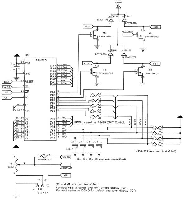 microcontroller interface schematic