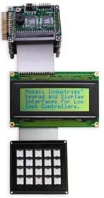 4x20 LCD display module and 5x4 keypad
