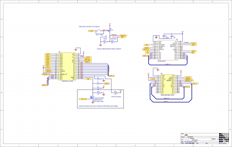 lcd display schematic
