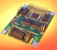 Mezzanine board for thermocouple measurements includes a 16-bit resolution A/D and cold junction compensation using either the LT1025 cold junction compensation IC or a precision thermistor.