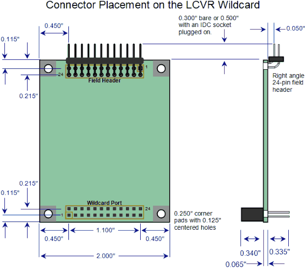 Liquid Crystal driver board connector placement