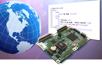 low cost expandable embedded single board computer uses as fast 68hcs12 Freescale microcontroller with 8 pwm counter/timer digital I/O and 16 10-bit analog A/D inputs, programmed in C language or Forth